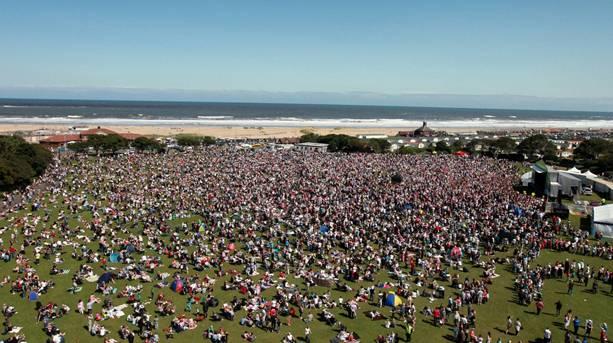 Ariel picture of festival crowd