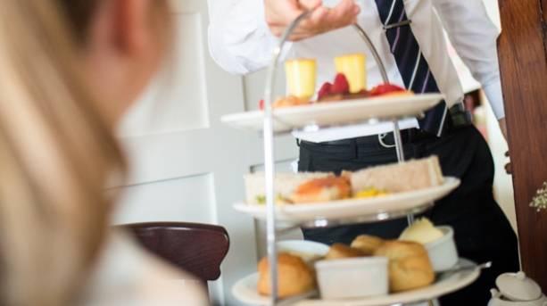 Afternoon tea at the Black Swan Hotel, Helmsley