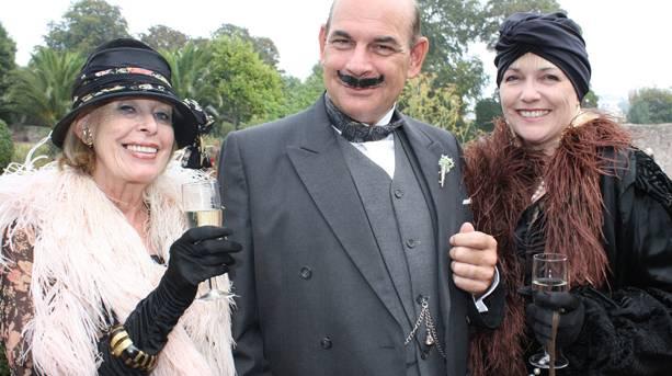 People in Poirot fancy dress