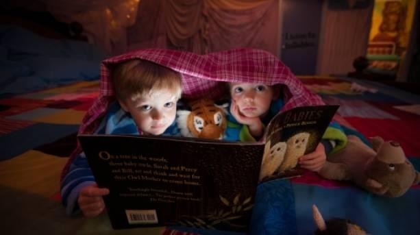 Children enjoying a bedtime story