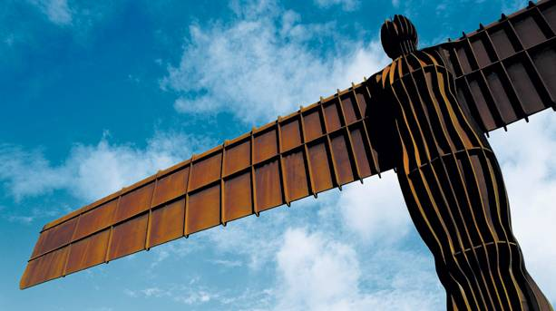 The Angel of the North and clouds