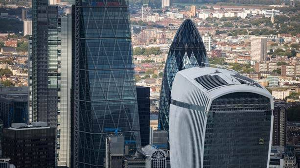 Skyscraper tips: the Gherkin & Heron Tower, London