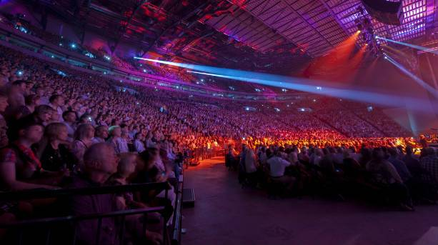 Audience inside the First Direct Arena
