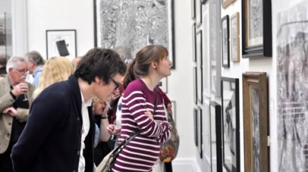 Visitors at the Art Weekender