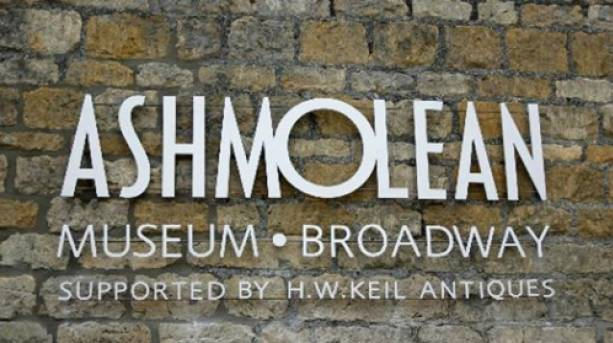 Sign for the Ashmolean Museum in Broadway