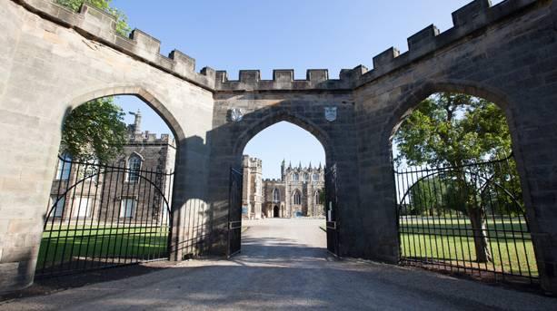 Auckland Castle gates, Vale of Durham