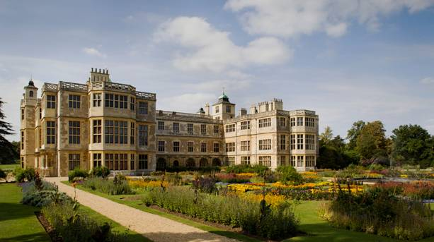 The formal gardens at Audley End.
