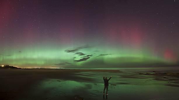 Aurora Borealis over the Northumberland Coast