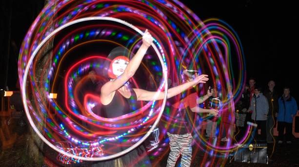 A performer at Lights up Lancaster