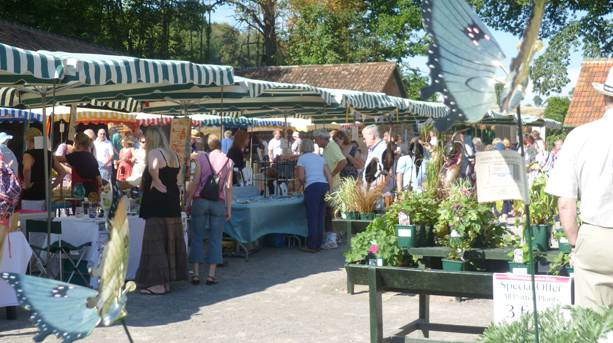 Stalls in Courtyard Showcase event NT Tyntesfield, Wraxall