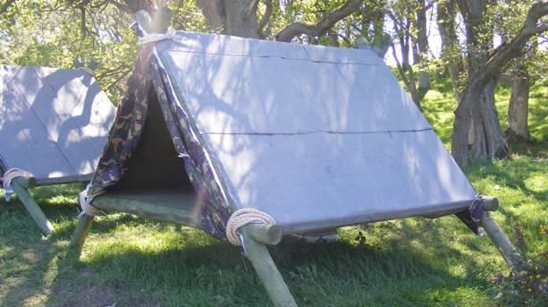 A frame survival shelter