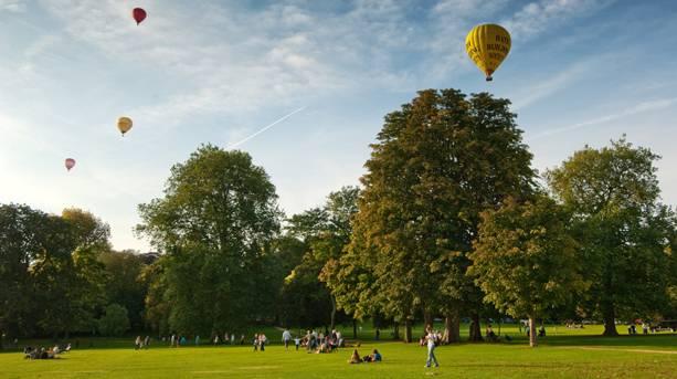 Hot Air Balloons over Bath