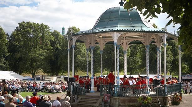 Bandstand at Shrewsbury Flower Show