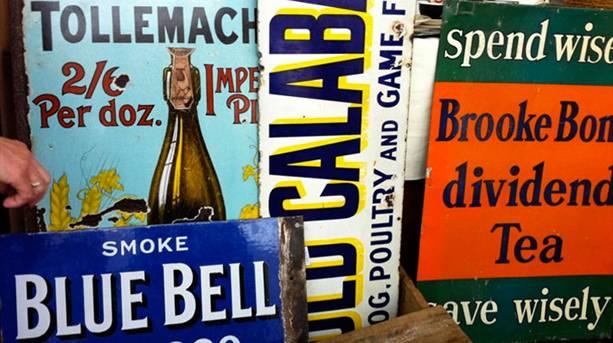Vintage Signs at BathVA Vintage and Antiques Market