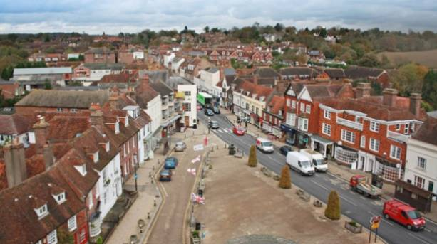 The historic market town of Battle, East Sussex