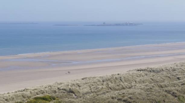 Bamburgh Beach and Farne Islands, Northumberland