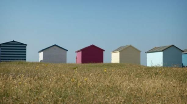 Beach huts at Hayling Island, Hampshire