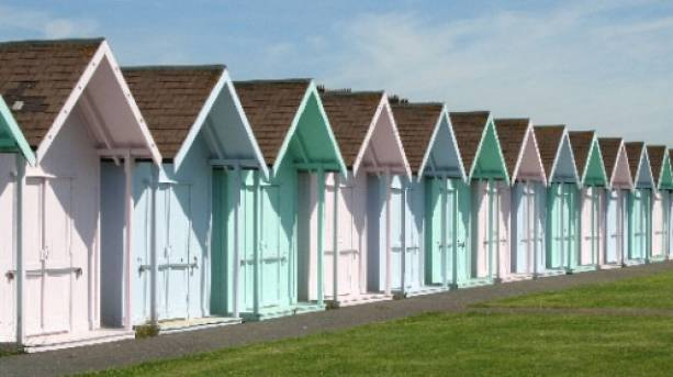 Beach Huts on Southsea Seafront