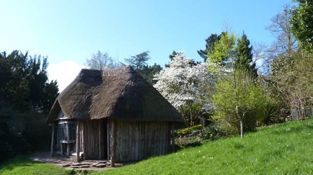 Bear Hut at Killerton in Spring