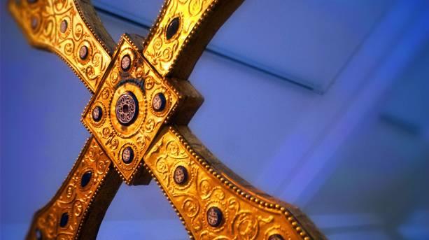 Bede's World museum cross, Jarrow, South Tyneside