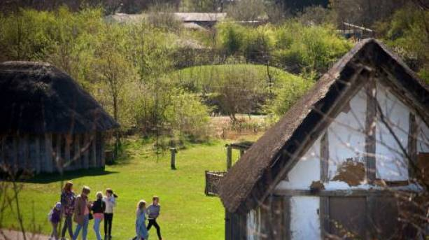 The farm and reconstructed Anglo-Saxon buildings at Jarrow Hall