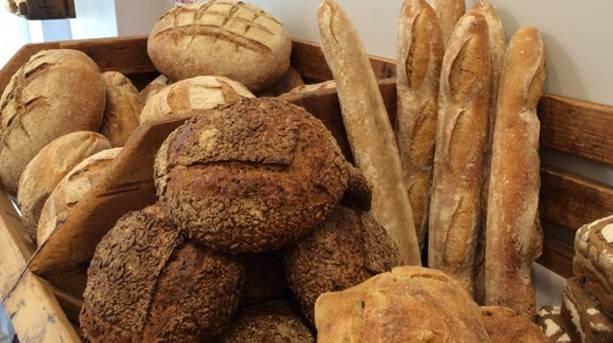 Various breads at Bertinet Kitchen