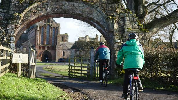 Bikers at Lanercost Priory