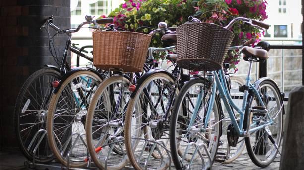 Bikes outside No.1 Waterside