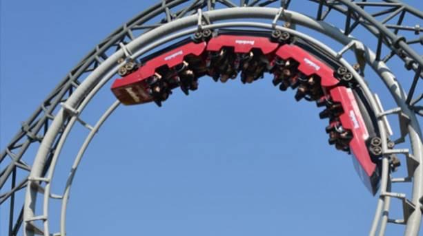 A roller coaster ride at Blackpool Pleasure Beach