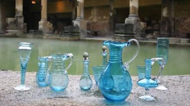 The distinctively coloured Bath Aqua Glass