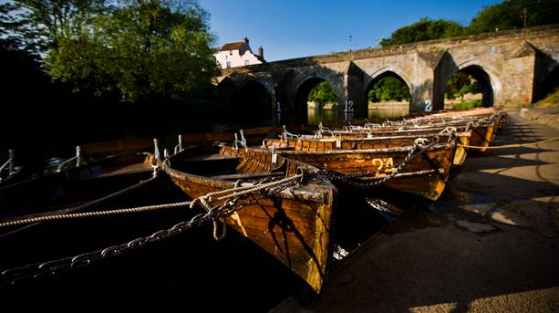 Boats on the River Wear, Durham City