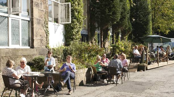 Relaxing in the sunshine in Bollington