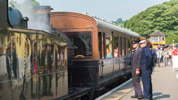 All aboard the Embsay & Bolton Abbey steam railway