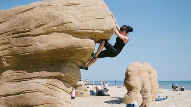 Bouldering on Bournemouth Beaches