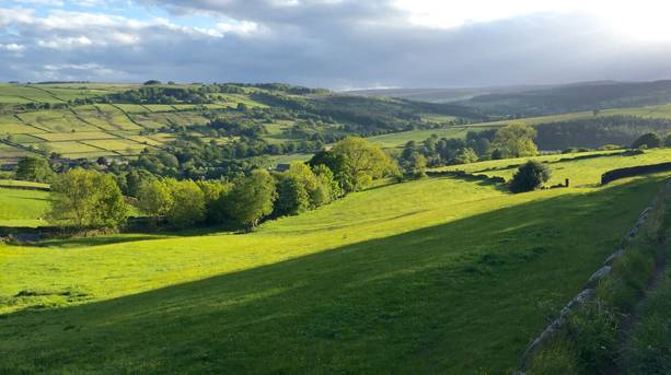 View across to the Higher Dewent Valley