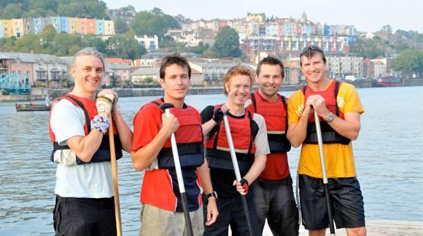 Canoeing in Bristol Harbour