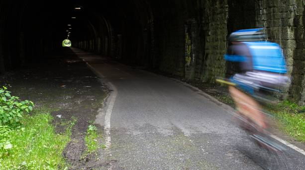 Cycling the tunnels on the Bristol to Bath Railway Path