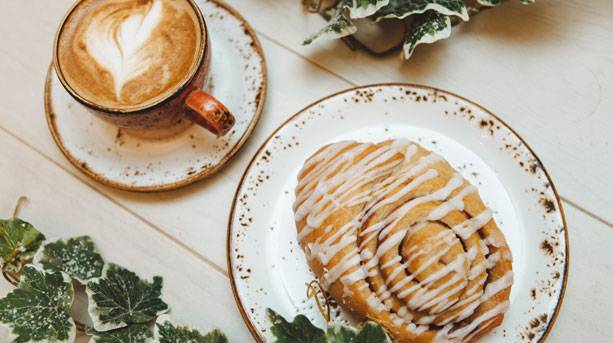 A Coffee and pastry at Brocco in the Park