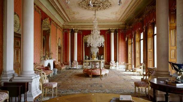The rich ornamentation of Brodsworth Hall's Drawing Room