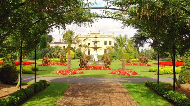 The beautiful gardens at Brodsworth Hall