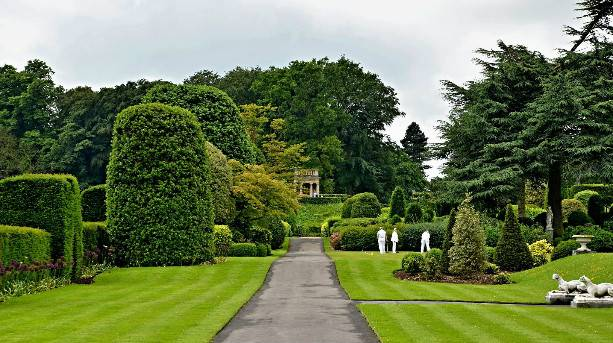 A game of croquet in the picturesque setting of Brodsworth Hall Gardens