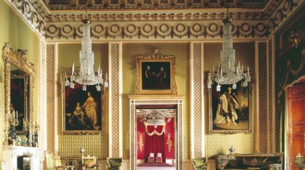Inside a State Room at Buckingham Palace, London