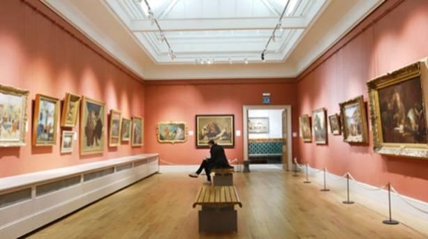 Photo taken inside the Brighton Museum's Fine Art Gallery