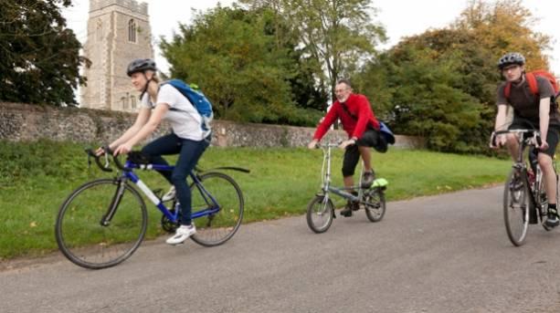 Cyclists in Suffolk