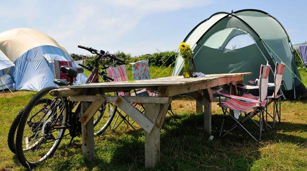 Bryher camping bikes