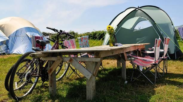 Bryher camping bikes