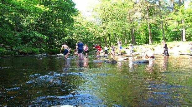 Stream Dipping at Hardcastle Crags