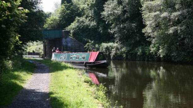 Sailing on the Leeds Liverpool Canal, Lancashire