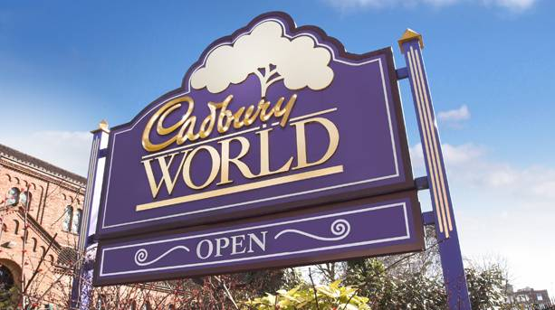 Cadbury's World Sign, Birmingham