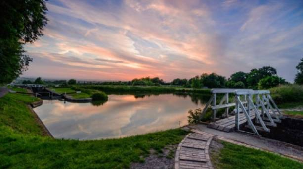 Caen Hill Locks on the Kennet & Avon Canal, Wiltshire